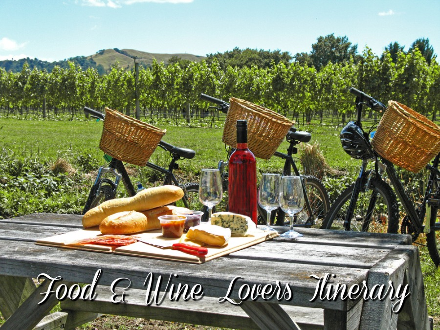 New Zealand food and wine travel itinerary